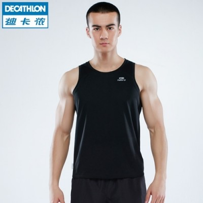 Decathlon sports vest male running fitness training speed dry air tight sleeveless vest KALENJI