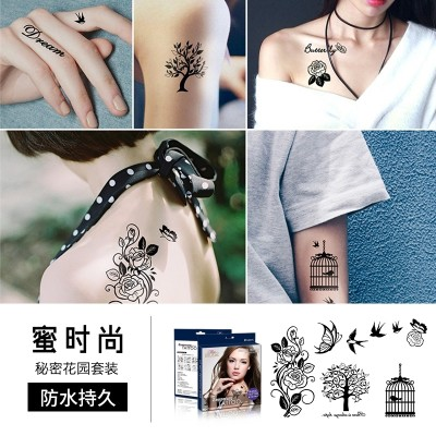 Honey fashion MISS MODA tattoo affixed waterproof female small fresh simulation tattoo, persistent arm English letters