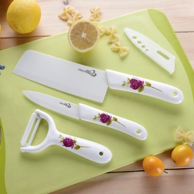 Ceramic knives set kitchen knives, three sets of kitchen knives, fruit knives, slicing knives, zirconia is not rusty