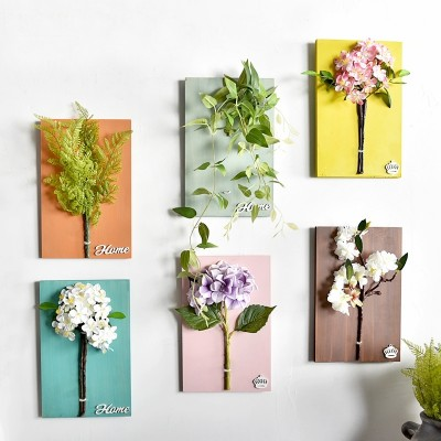 The three-dimensional simulation of floral plant wall decorations Home Furnishing creative dining room bedroom wall mural wall Pendant