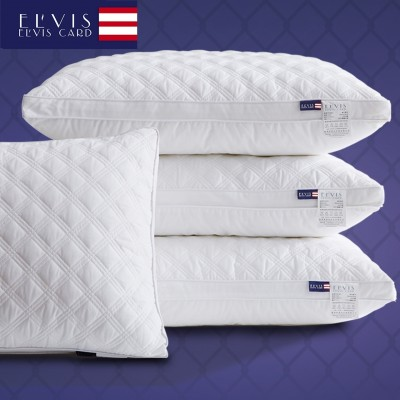 Anti mite antibacterial five star hotel pillow, pillow, cotton, velvet, neck protection, adult, single, cervical, a pair of 2