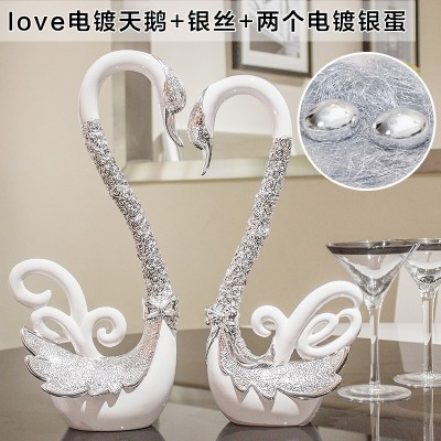 Creative wedding gifts wedding decoration new practical bestie wine room decor Home Furnishing Swan craft gift