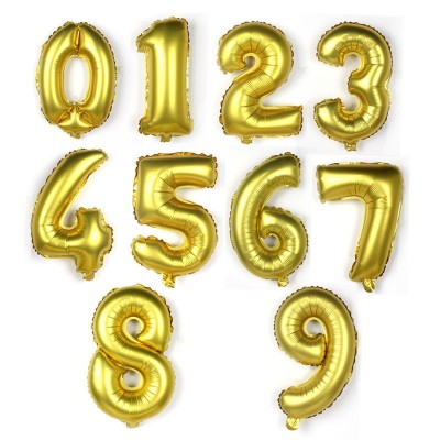 18 gold, silver, digital cartoon, aluminum film, balloon arrangement, festival wedding, birthday celebration decoration, decorate balloon