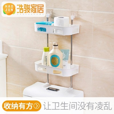 Hao Chun bathroom, free punching bathroom, rack, bathroom articles, suction wall toilet, plastic storage rack