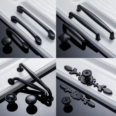 Jia du American black ambry cupboard door drawer door drawer door handle the hand of contemporary and contracted Europe single hole small pull hand