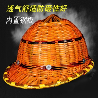 Safety helmet construction project leader of summer rattan hat