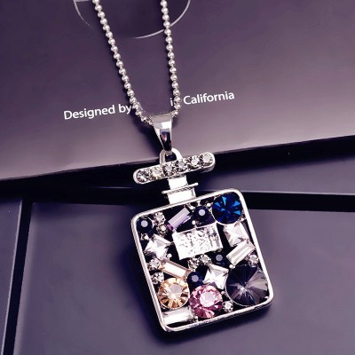 Compose love to buy 2 get 1 female qiu dong han edition perfume bottle decoration joker paragraph sweater chain grows necklace pendant accessories in Europe and America