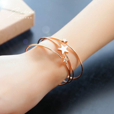 Gold plated bracelet female Korean students contracted Sen Department of South Korea opening fashion trendsetter bestie personality Jewelry Bracelet
