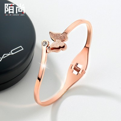 Korean plating 18K rose gold bracelet bracelet jewelry fashion female butterfly handsel birthday gift students