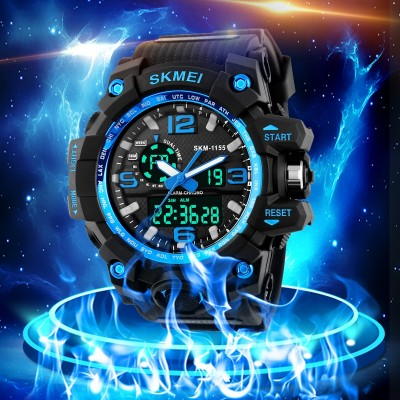 Large outdoor sports teenagers dial electronic watch male children watch male students show LED double high school students