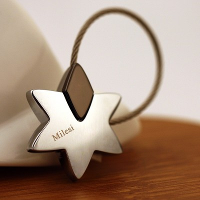 Millars stars Keychain car key chain key ring and key ring pendant.