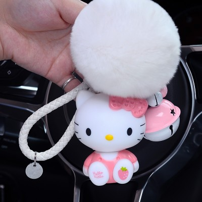 Cartoon cat KT Keychain cute kitty doll car key pendant men women bag ornaments key chain