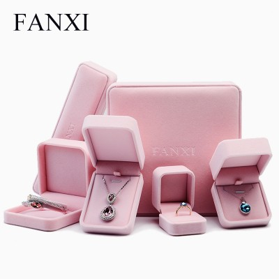 Premium flannel ring boxes, wedding studs, necklaces, boxes, gift boxes, jewelry boxes, pink