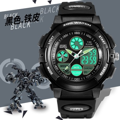 Is Hong Kong boy boy children watch waterproof noctilucent alarm clock elementary children big boy swimming movement electronic