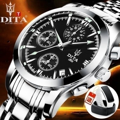 Waterproof watch men leisure steel strip's luminous belt quartz watch of wrist of business students to fashion trends