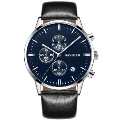 Kashidun watch Male skin with a watch Waterproof business men's watch watch quartz watch
