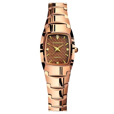 Ms card poem, waterproof tungsten steel watches Rose gold women's watch diamond watch Table watch female restoring ancient ways