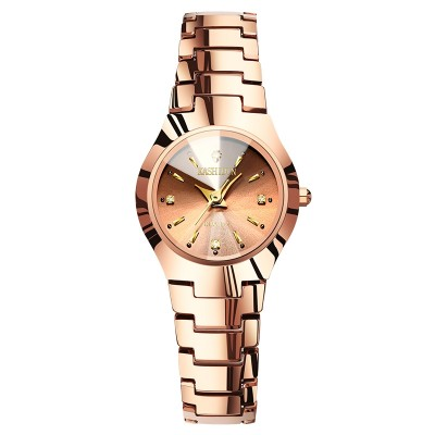 Ms card poem, tungsten steel fashion table tungsten steel watches Retro diamond table Quartz female table