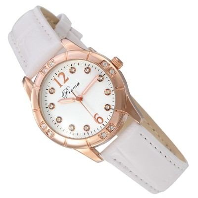 Luminous han edition female skin with fashion students waterproof drill watch cute girl brand quartz ladies watch less