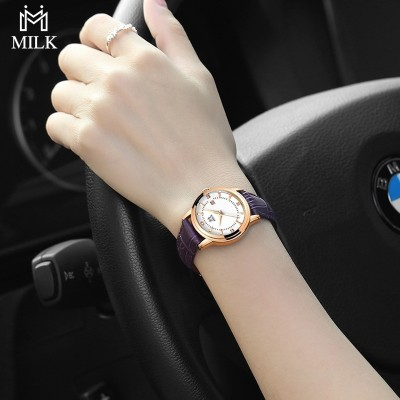 School students ms belt waterproof leisure fashion female table Han edition contracted fashion quartz watch