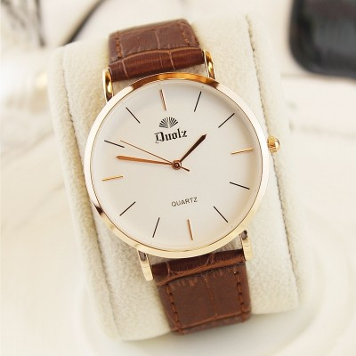 South Korea han edition contracted waterproof watch men and women students thin epidermis couple watches with quartz expression a pair of men and women