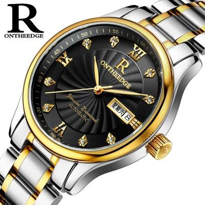 Ultra-thin waterproof steel belt watches quartz for men and women male watch send strap women's men's watch