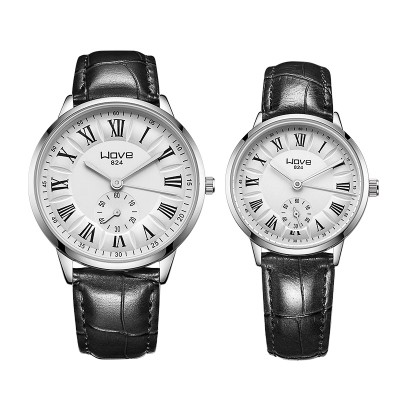 South Korea neutral tide female table fashion belt male big dial watch lovers with ultra-thin waterproof quartz watch