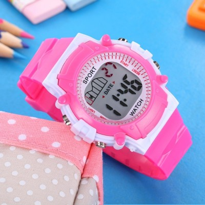 Polly m children watch girls boy waterproof elementary school students in junior high school students electronic watch children digital table of the girls