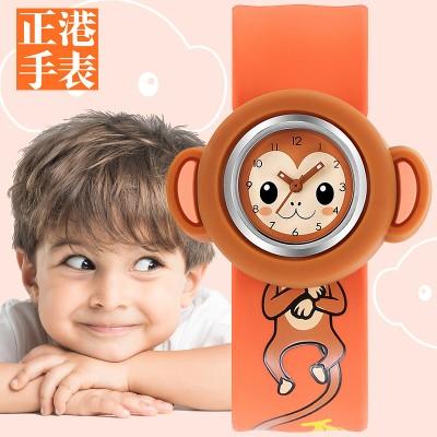 Children elementary school students applauded watch ring girl 2, 3, cute girl boy baby baby toy cartoon waterproof