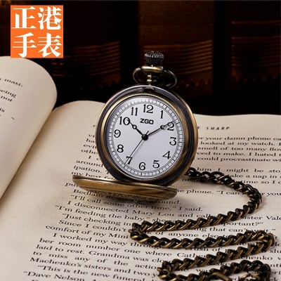 Port is a small pocket watch female retro necklace table cover south Korean students creative antique watch old man watch men quartz watch