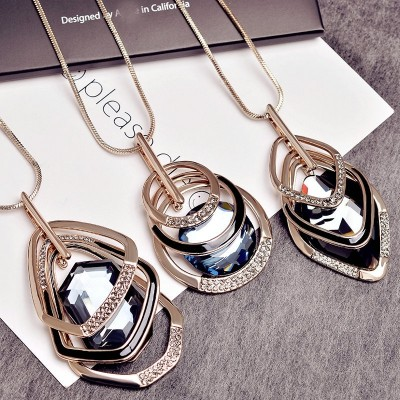 Compose love South Korea long autumn winter sweater chain necklace female contracted and fashionable joker clothes accessories