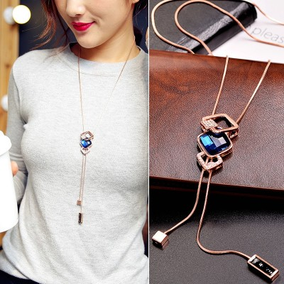 Compose love buy 2 send 100 build long Korean sweater chain tulip necklace fashion women deserve to act the role of adornment necklace