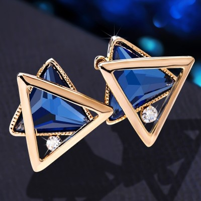 925 silver earrings crystal temperament Female earrings South Korea contracted earrings deserve to act the role ofing is tasted sweet anti allergy