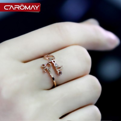 Lome jewelry The zodiac ring Valentine's day present for his girlfriend split ring finger ring end