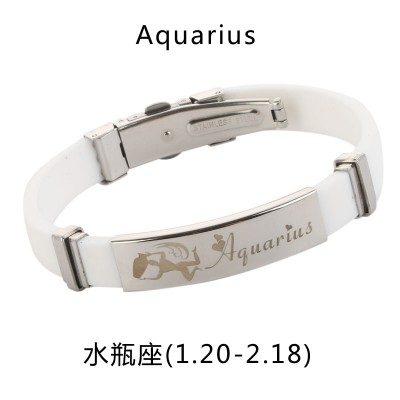 Twelve Korean students sign bracelet bracelet bracelet and titanium jewelry personality silicone tide