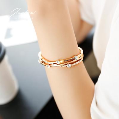 Rose Gold Plated Bracelet Korean female student Mori bestie Bracelet all-match simple personality trendsetter jewelry
