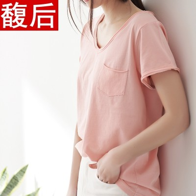 Large size T-shirt dress summer T-shirt Korean students all-match loose short sleeve shirt shirt woman