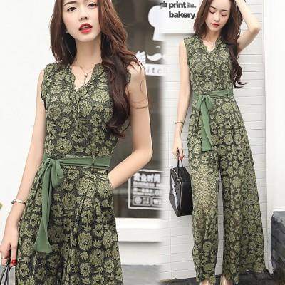 In the summer of  new Korean female Siamese pants waist lace Jumpsuit skinny pants baggy pants suit tide