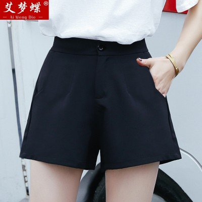 new spring and summer shorts female Korean all-match thin waist student a word wide leg loose Chiffon casual