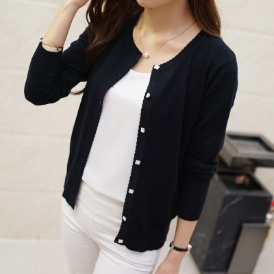 ladies sweater cardigan sweater summer sun short sleeved jacket sweater loose spring thin air conditioning