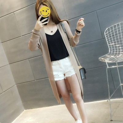 Sunscreen clothing long sweater cardigan sweater coat  summer fashion a thin air jacket