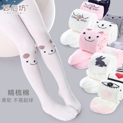 Children tights, spring and autumn 3, baby 5, bottoming pants, 7 combed cotton, 9 year old princess, female children's clothing, white dance socks