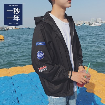 Sun clothing  spring summer, thin Korean fashion tide, youth jacket, men's casual wear coat