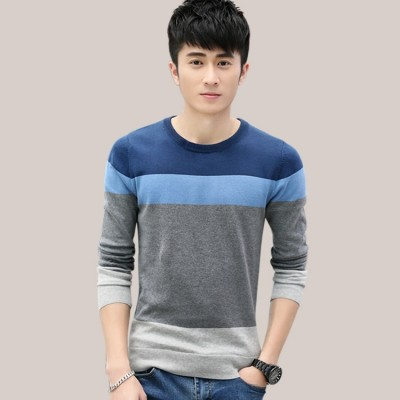 Men's sweater T-shirt cotton sweater autumn thin turtleneck sweater shirt male fashion