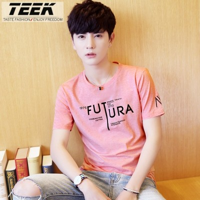summer, new men's clothing, T-Shirts, students, half sleeves, teenagers, clothes, Korean fashion, men's short sleeve t-shirts