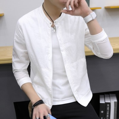 The summer sun protection clothing male  new Korean men's jacket jacket slim tide sunscreen clothing thin summer gown