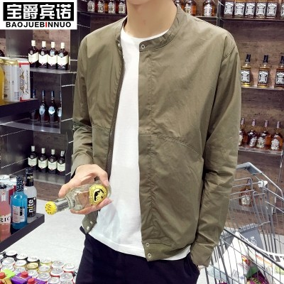 Summer men's jacket, trend man, thin coat, youth breathable, sun protective clothing, Korean style sports clothes