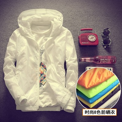 Spring and summer, new men's Korean version, casual Hooded Jacket, windproof clothes, thin coat, youth clothes tide