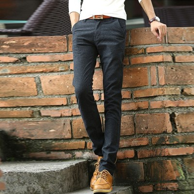 Men's casual pants linen all-match trend of Korean new summer  slim thin cotton male pants