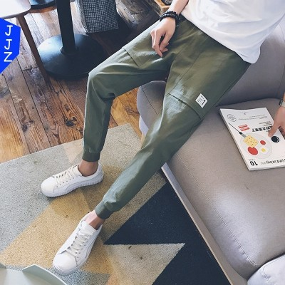 The nine men's casual pants pants pants pants men Haren summer slim feet upon the trend of the  movement of thin section